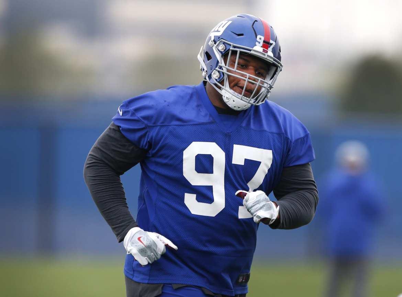 New York Giants defensive lineman, Dexter Lawrence.