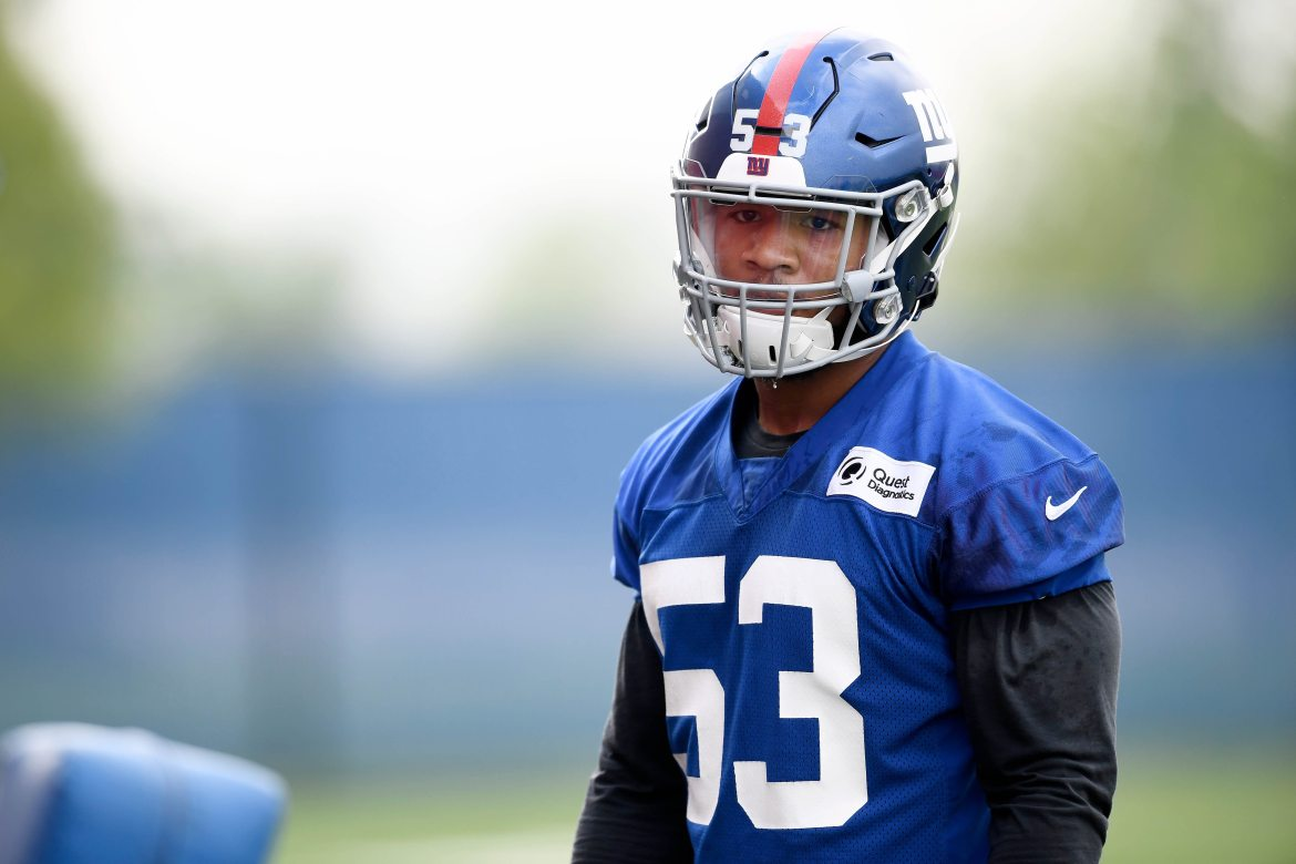 New York Giants rookie, Oshane Ximines.