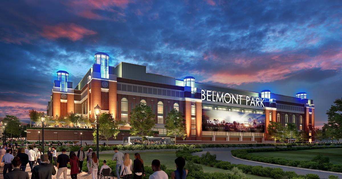 3d rendered image of belmont park