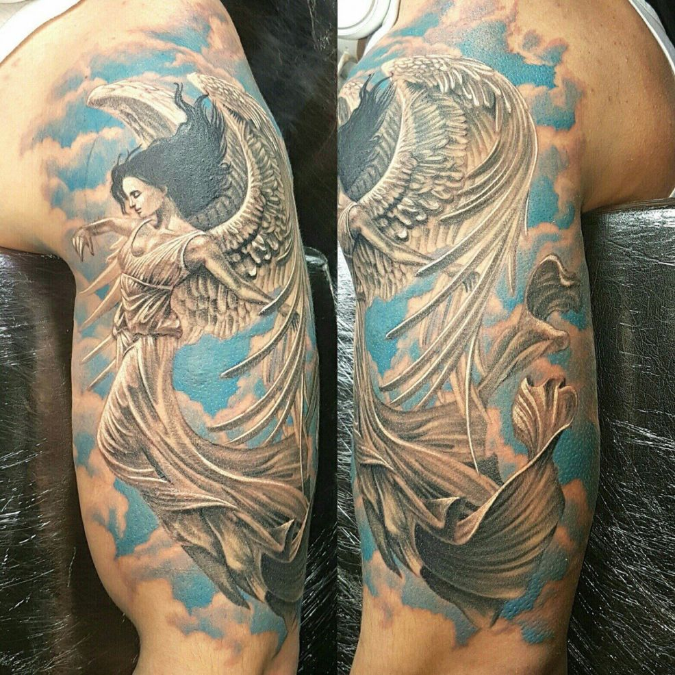 тату ангел фото эскизы и значения татуировок ангелов для мужчин и