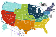 (Map showing different REL regions)