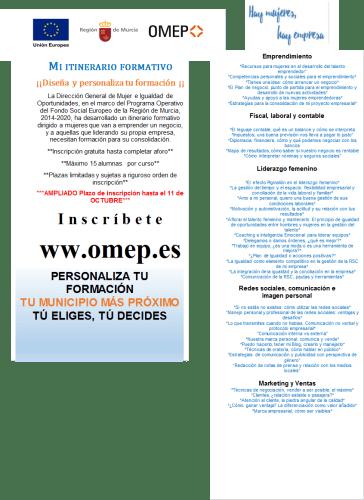 """""""Hay mujeres, hay empresas"""" píldoras formativas ofrecidas por OMEP"""