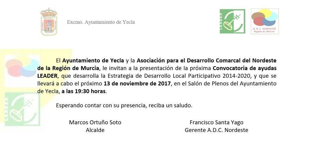 Invitacion Yecla