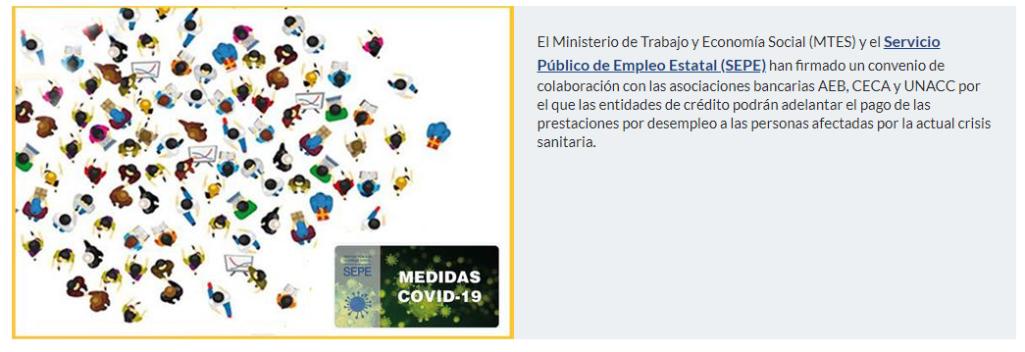 Ante la emergencia por Covid-19 la Concejalía de Empleo informa: acuerdan anticipar las prestaciones por desempleo