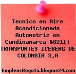 Tecnico en Aire Acondicionado Automotriz en Cundinamarca &8211; TRANSPORTES ICEBERG DE COLOMBIA S.A