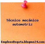 Tecnico Mecanico Automotriz