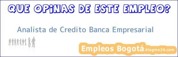 Analista de Credito Banca Empresarial