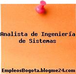 Analista de Ingeniería de Sistemas