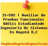 It-592 | Auxiliar De Pruebas Funcionales &8211; Estudiantede Ingeniería De Sistemas En Bogotá D.C