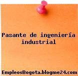 Pasante de ingeniería industrial