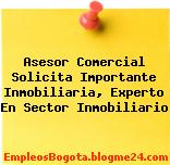 Asesor Comercial Solicita Importante Inmobiliaria, Experto En Sector Inmobiliario