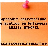 aprendiz secretariado ejecutivo en Antioquia &8211; ATMOPEL