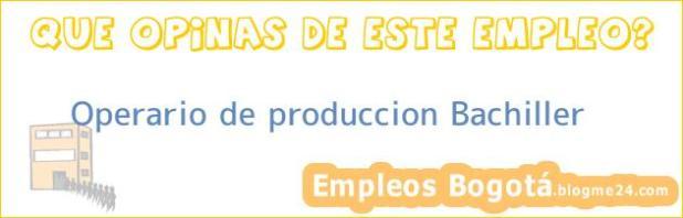 Operario de produccion Bachiller
