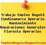 Trabajo Empleo Bogotá Cundinamarca Operario Mantenimiento Reparaciones Generales Floresta Operarios