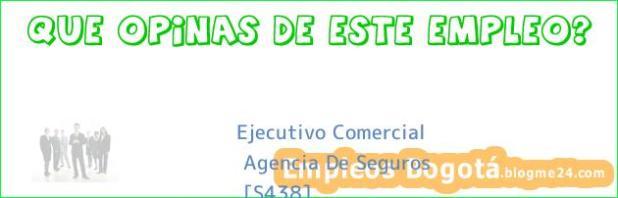 Ejecutivo Comercial Agencia De Seguros (S438)