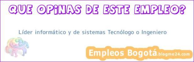 Líder informático y de sistemas Tecnólogo o Ingeniero