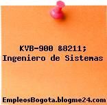 KVB-900 &8211; Ingeniero de Sistemas