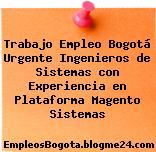 Trabajo Empleo Bogotá Urgente Ingenieros de Sistemas con Experiencia en Plataforma Magento Sistemas