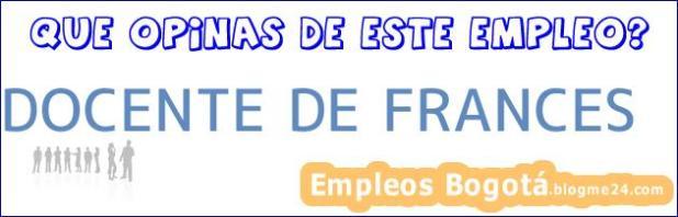 DOCENTE DE FRANCES