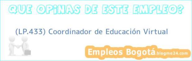 (LP.433) Coordinador de Educación Virtual