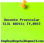 Docente Preescolar CLIL &8211; [Y.893]