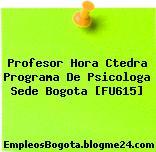 Profesor Hora Ctedra Programa De Psicologa Sede Bogota [FU615]