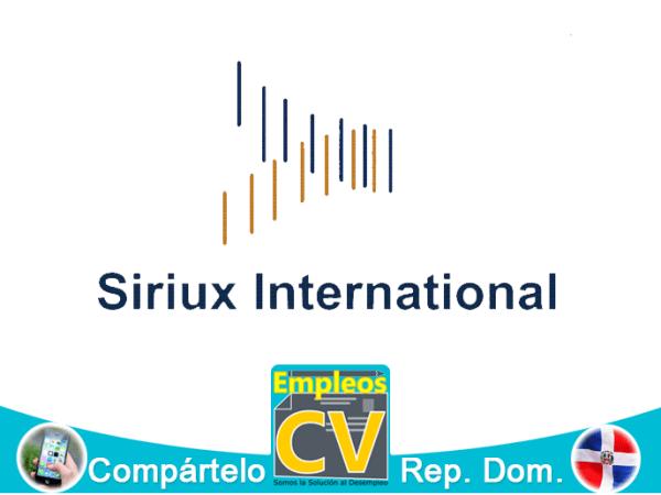 SIRIUX INTERNATIONAL Tiene 1 Vacante, Aplica!