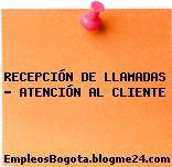 RECEPCIÓN DE LLAMADAS – ATENCIÓN AL CLIENTE