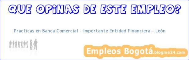 Practicas en Banca Comercial – Importante Entidad Financiera – León