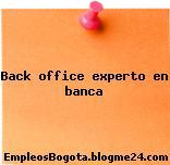 Back office experto en banca
