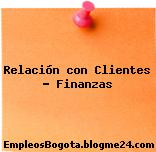 Relación con Clientes – Finanzas