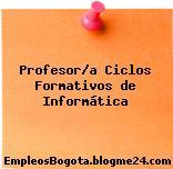 Profesor/a Ciclos Formativos de Informática