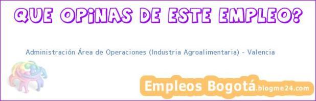 Administración Área de Operaciones (Industria Agroalimentaria) – Valencia