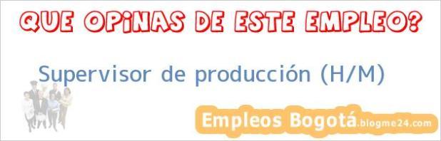 Supervisor de producción (H/M)