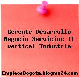 Gerente Desarrollo Negocio Servicios IT vertical Industria