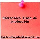 Operario/a línea de producción