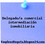 Delegado/a comercial intermediación inmobiliaria