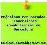 Prácticas remuneradas – Inversiones inmobiliarias en Barcelona