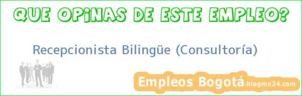 Recepcionista Bilingüe (Consultoría)