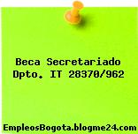 Beca Secretariado Dpto. IT 28370/962
