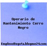 Operario de Mantenimiento Cerro Negro