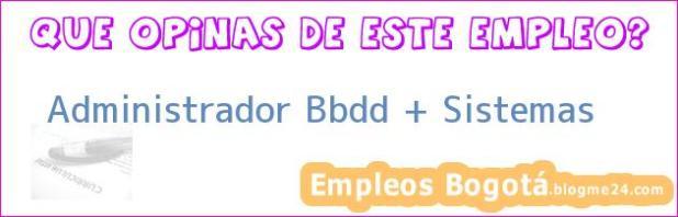 Administrador Bbdd + Sistemas