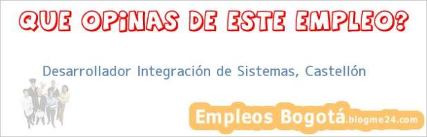 Desarrollador Integración de Sistemas, Castellón