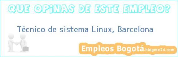 Técnico de sistema Linux, Barcelona