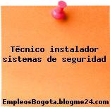 Técnico instalador sistemas de seguridad