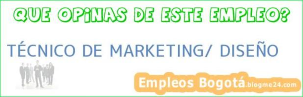 TÉCNICO DE MARKETING/ DISEÑO