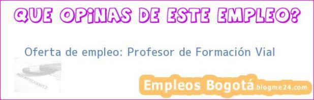 Oferta de empleo: Profesor de Formación Vial