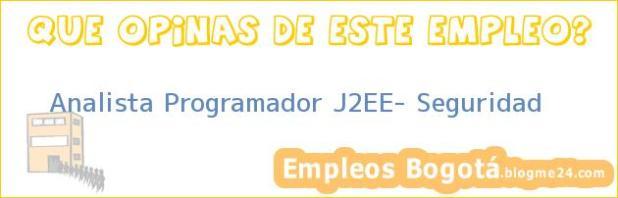 Analista Programador J2EE- Seguridad
