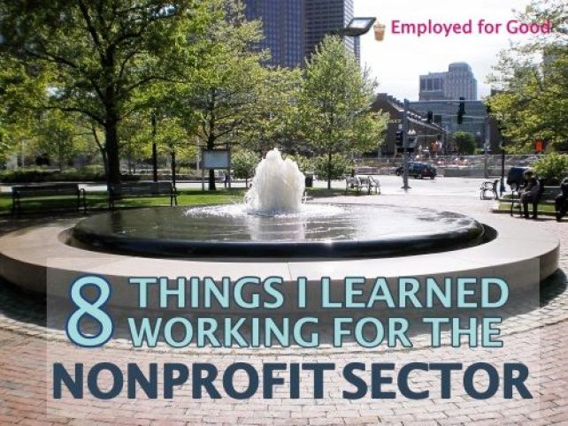 8 Things I Learned Working for the Nonprofit Sector