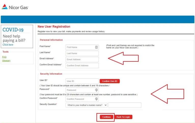 Nicor Gas Registration